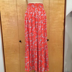 f5537bed4 Free People Skirts - Free People Way of the Wind floral maxi skirt red